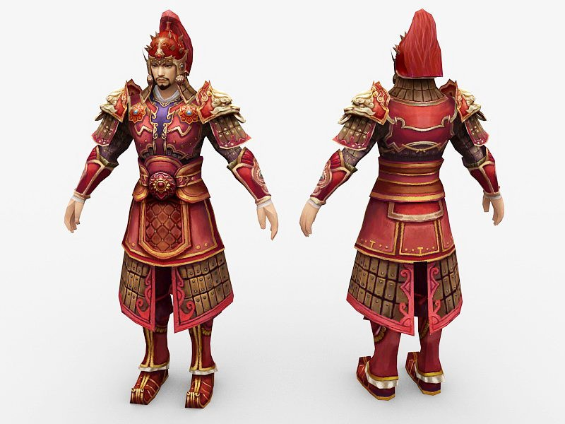 Ancient Chinese General 3d rendering