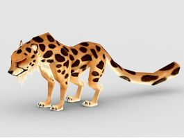 Anime Spotted Leopard 3d preview