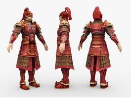 Ancient Chinese General 3d preview