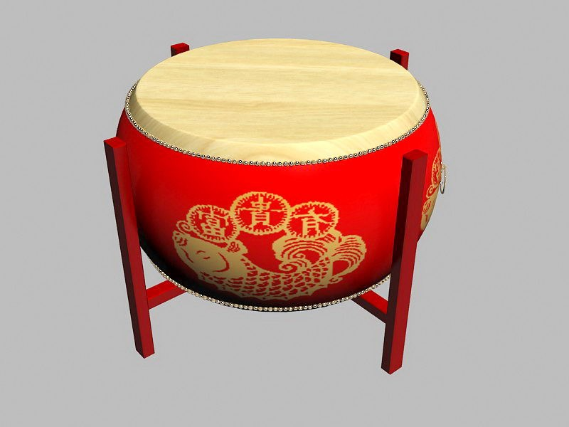 Large Drum 3d rendering