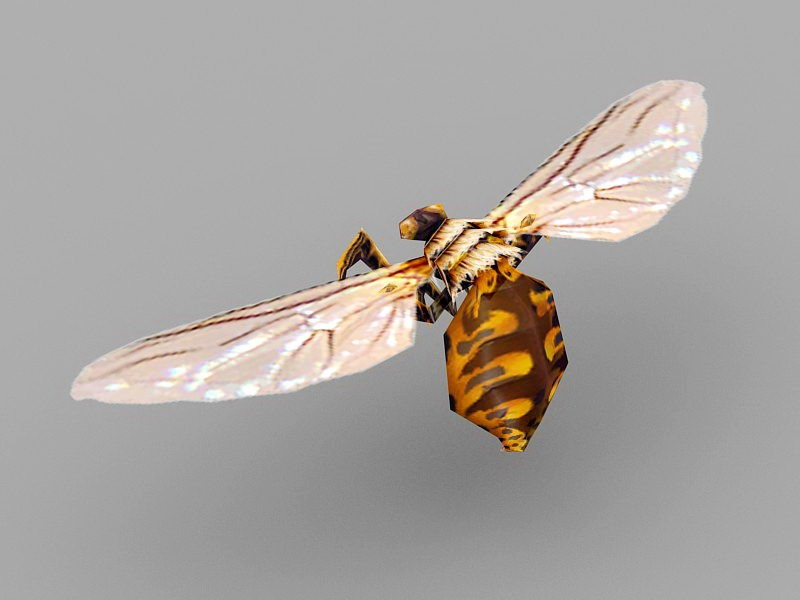 Orange Hornet 3d rendering