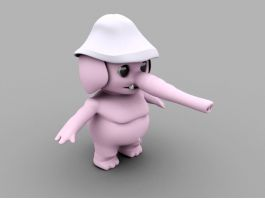 Cartoon Elephant Character 3d preview