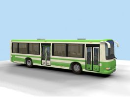 Green Bus 3d preview