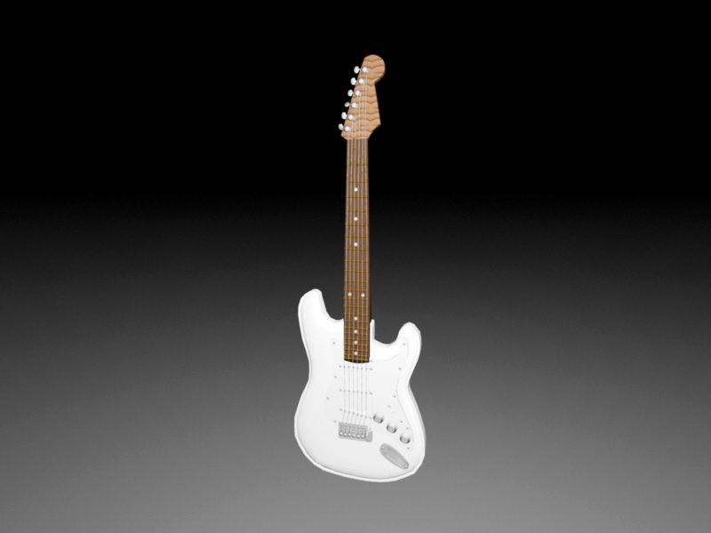 Electric Bass Guitar 3d rendering
