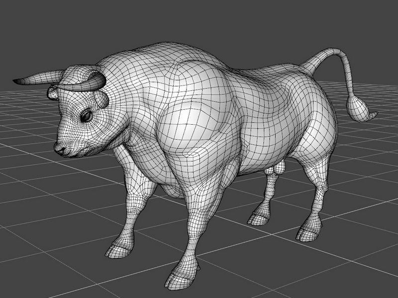 Black Bull 3d rendering
