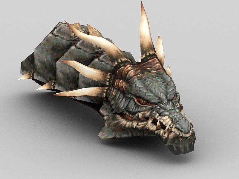 Dragon Head 3d rendering