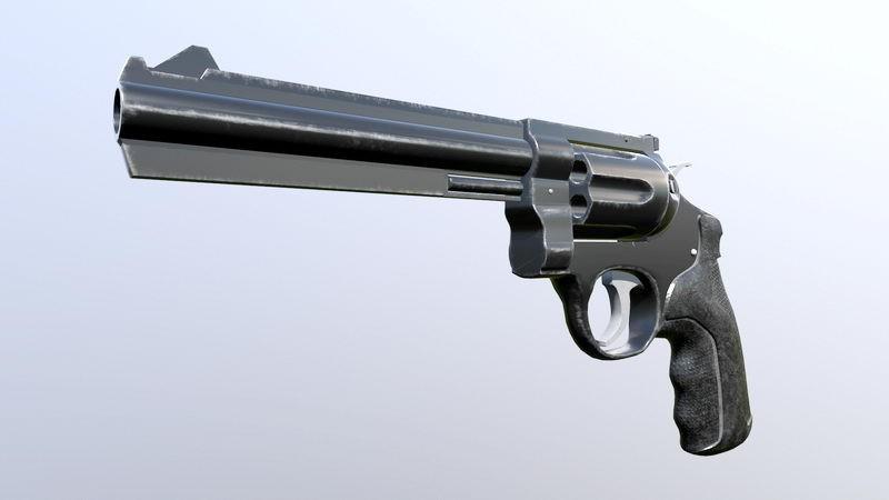 Vintage Revolver 3d rendering