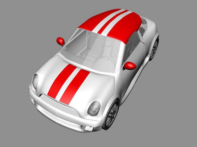 Small Minicar 3d rendering