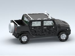 Hummer H3 Pickup Truck 3d preview