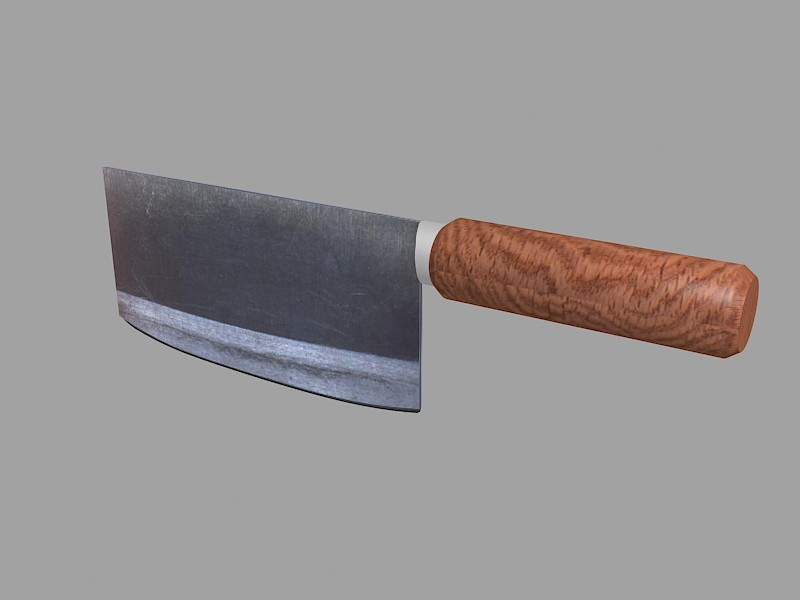 Chinese Kitchen Knife 3d rendering
