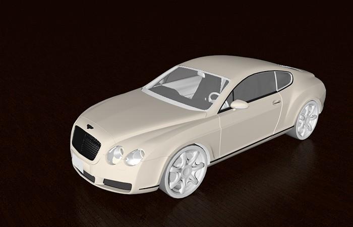Bentley Continental GT 3d rendering