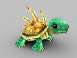 Green Anime Tortoise 3d preview