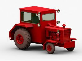 Red Tractor 3d preview