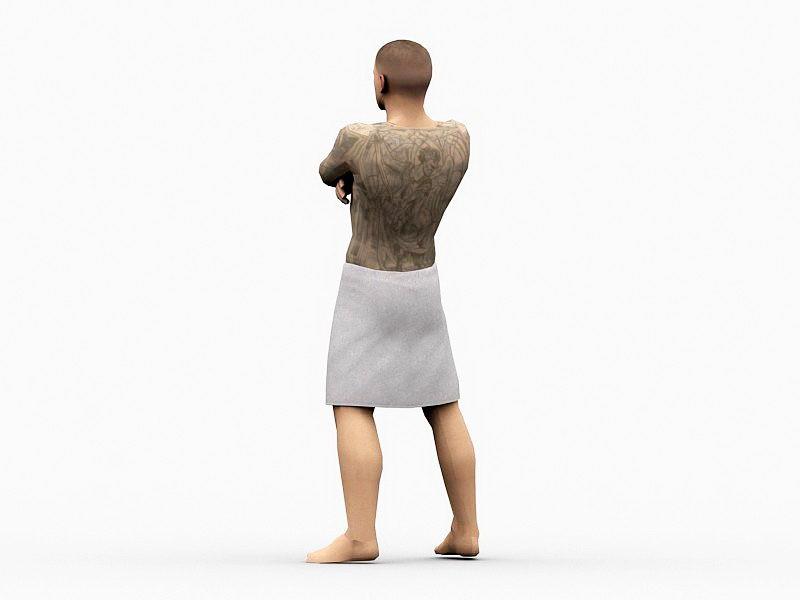 Prison Break Michael Scofield 3d rendering