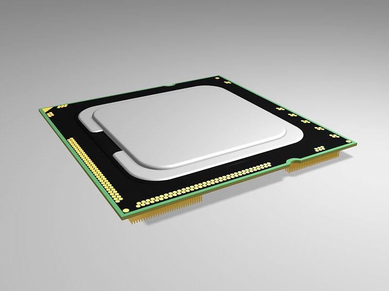 Computer CPU 3d rendering