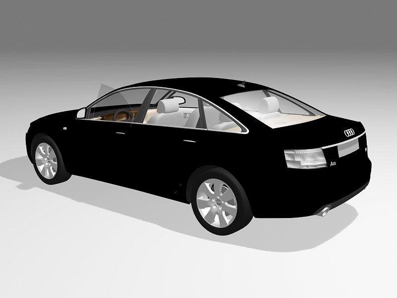 Audi A6 Car 3d rendering