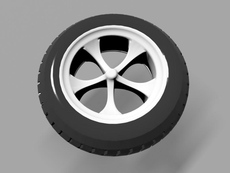 Car Tyre 3d rendering
