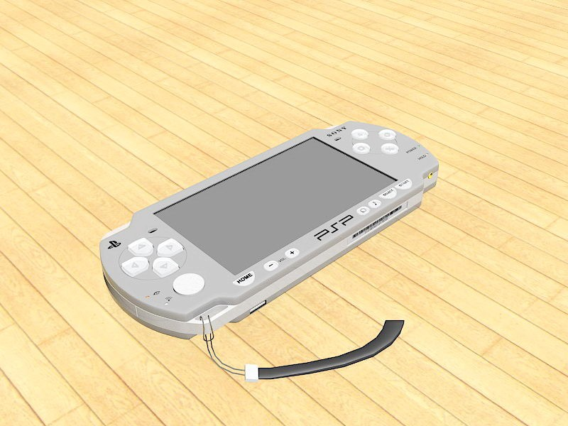 PSP-2000 Game Console 3d rendering