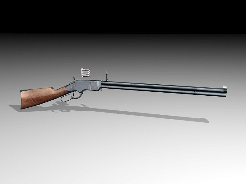 Henry Repeating Rifle 3d rendering