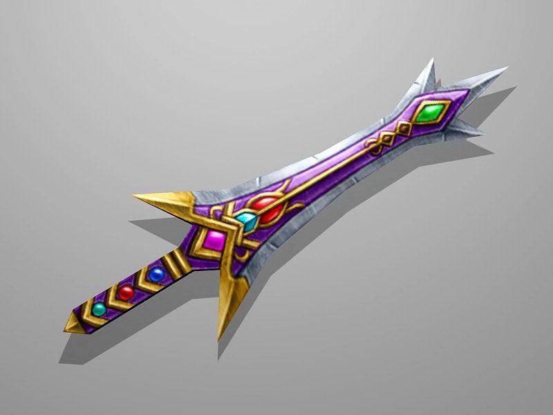 Gem Sword 3d rendering