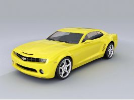 Chevrolet Camaro Yellow 3d preview