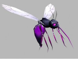 Purple Mosquito 3d preview