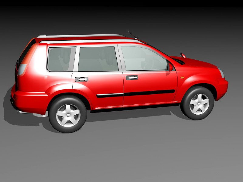 Nissan Pathfinder SUV 3d rendering
