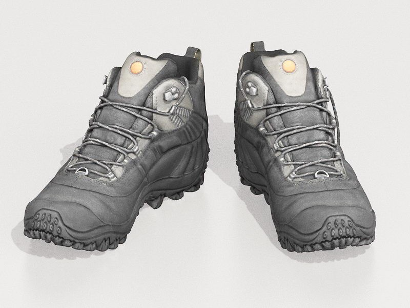 Hiking Boots 3d rendering