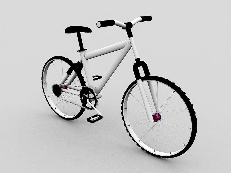 BMX Mountain Bike 3d rendering