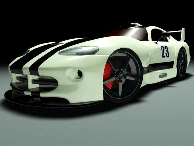 Dodge Viper ACR 3d rendering