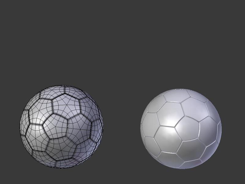 Classic Football 3d rendering