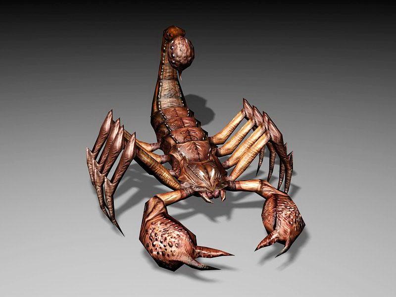 Desert Scorpion Monster 3d rendering