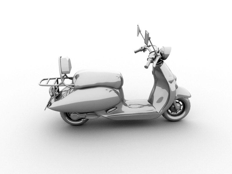 Moped Bike 3d rendering