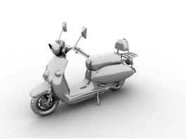 Moped Bike 3d preview
