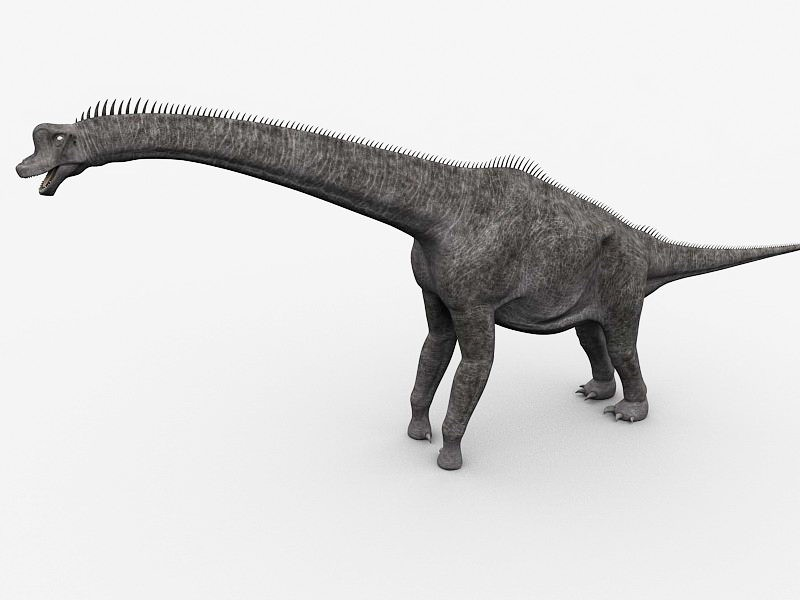 Brachiosaurus Sauropod Dinosaur 3d rendering