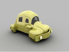 Cute Cartoon Car 3d preview