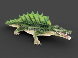 Green Alligator Monster 3d preview
