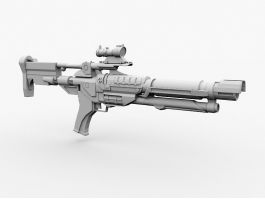 Futuristic Sniper Rifle 3d preview