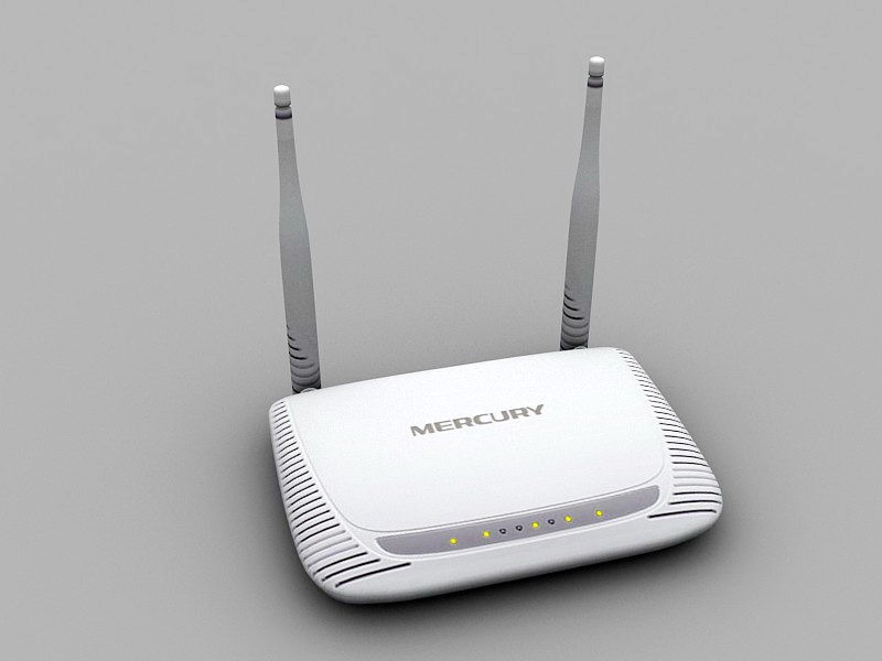 Wireless Router 3d rendering
