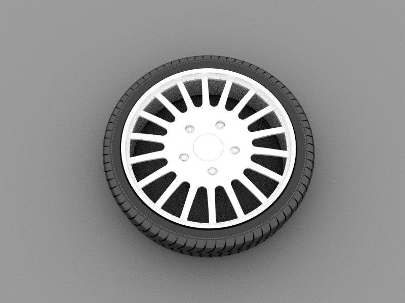 Tire Wheel 3d rendering