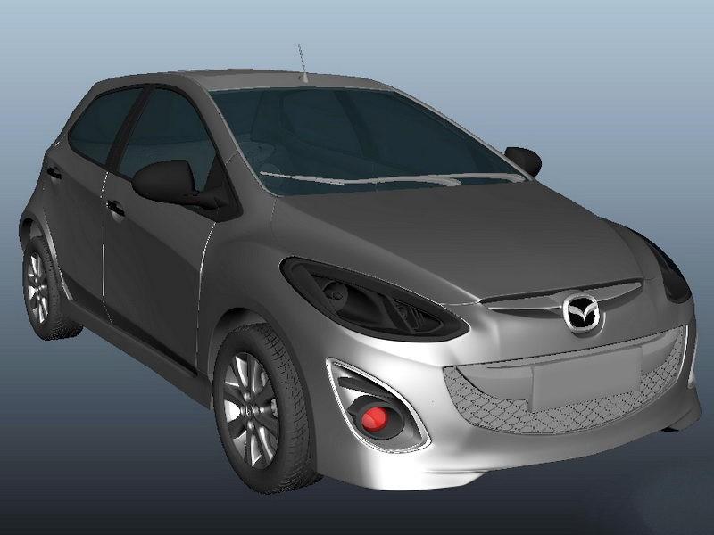 Mazda CX-3 3d rendering