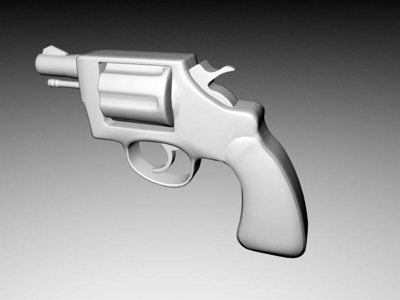 Short Revolver 3d rendering