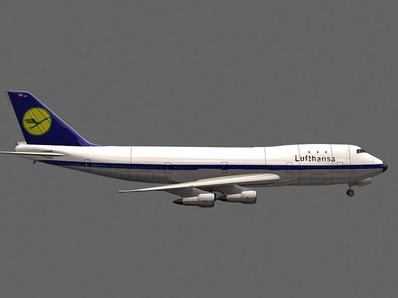 Boeing 747 3d rendering