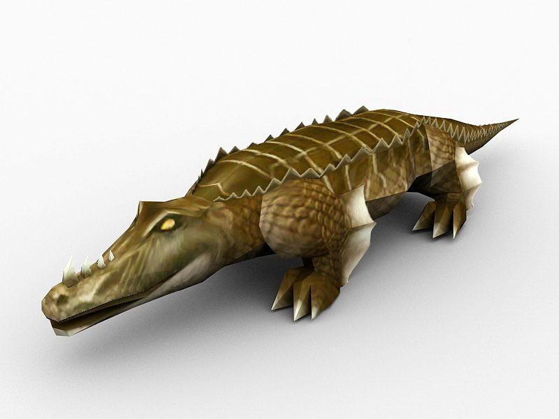 Crocodile Monster 3d rendering