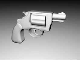 Short Revolver 3d model preview