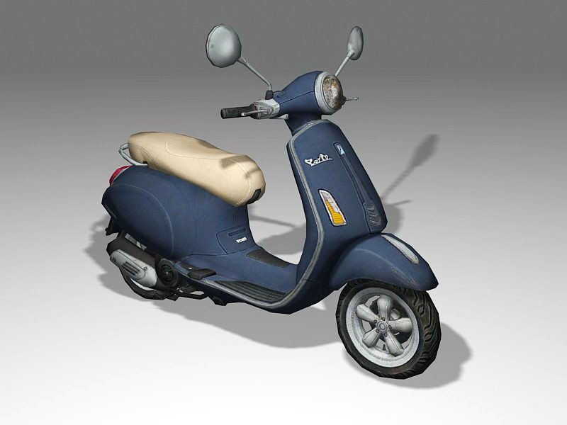 Old Motor Scooter 3d rendering