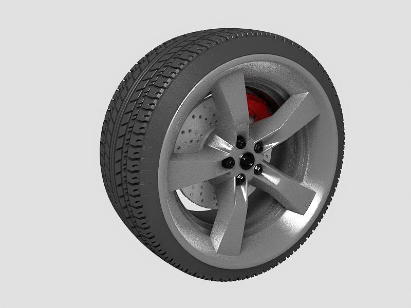 Car Wheel 3d rendering