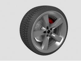 Car Wheel 3d preview
