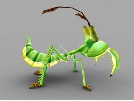 Praying Mantis Cartoon 3d preview