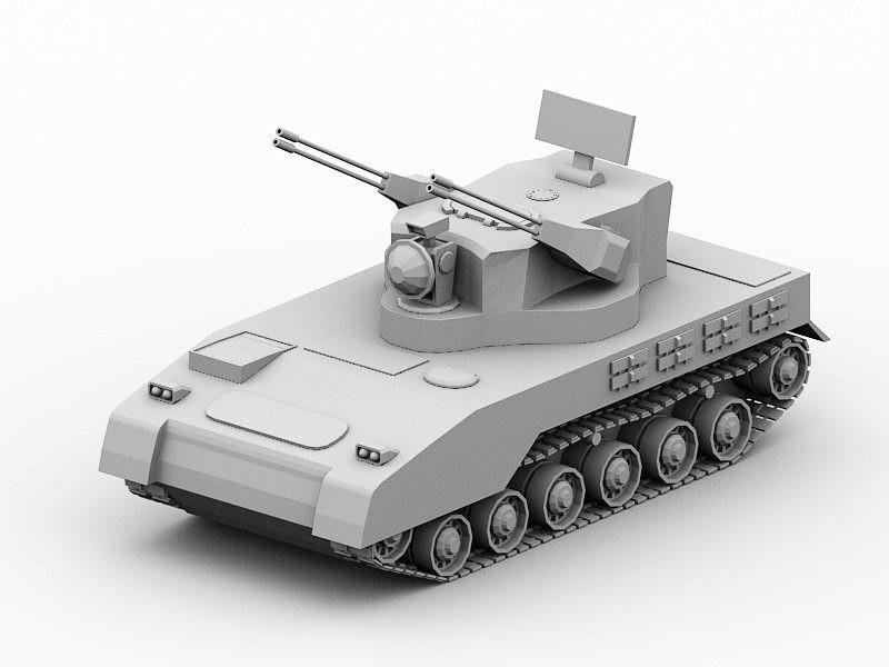 Self-Propelled Artillery Gun 3d rendering